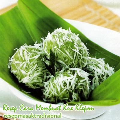 Berikut adalah bahan untuk kue klepon :