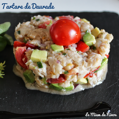 Illustration tartare de daurade