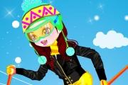 Kayak Yapan Kız Giydir Oyunu