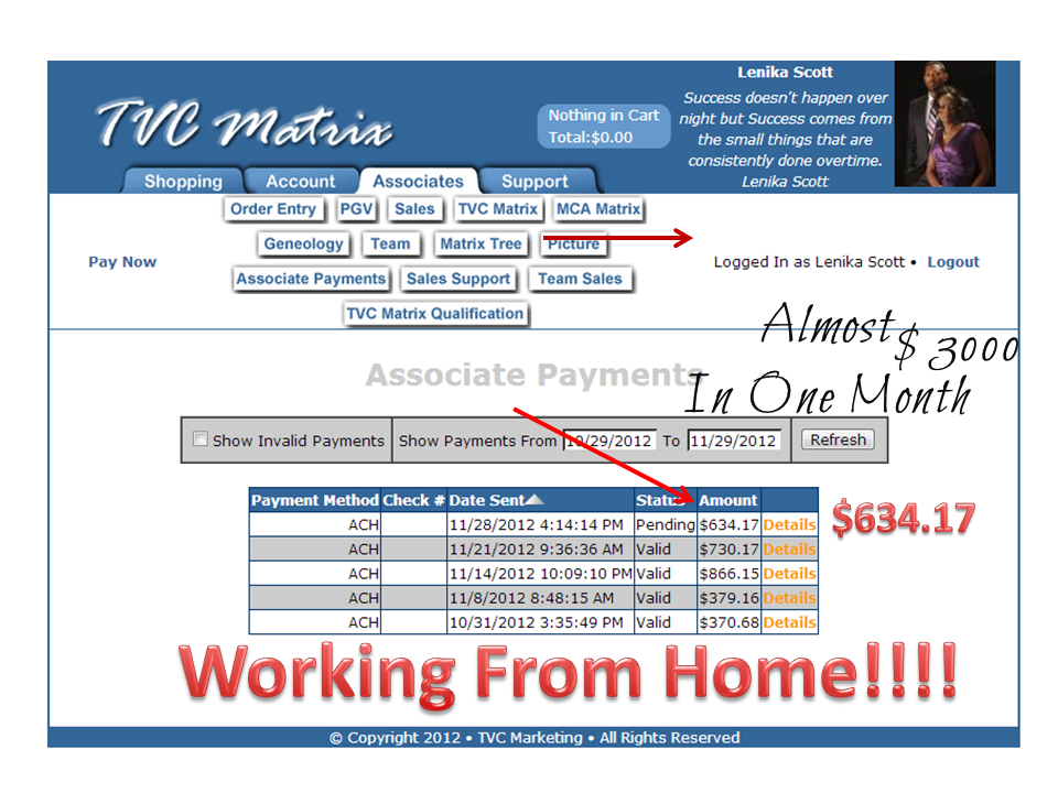 Moms Making Money with MCA: MCA Proof of Pay!