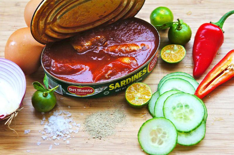 Seasaltwithfood malaysian style sardine sandwich for Sardine lunch ideas