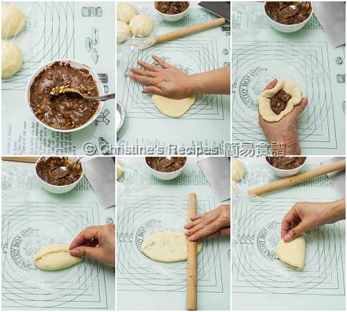 榛子醬麵包製作圖  Nutella Buns Procedures01
