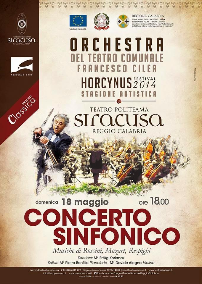 CONCERTO SINFONICO DELL'ORCHESTRA F. CILEA