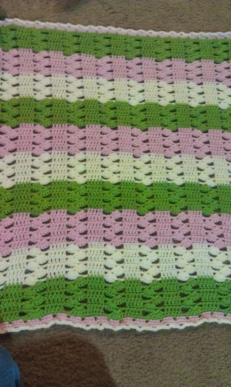 Lightweight Baby Afghan Crochet Pattern : Missed Stitches Crochet: Light & Lacy Crochet Baby Blanket