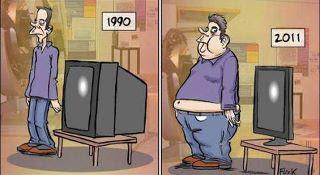 smiješne slike čovjek televizija