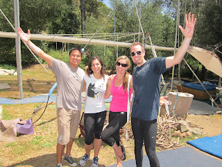Group shot after flying trapeze lesson.