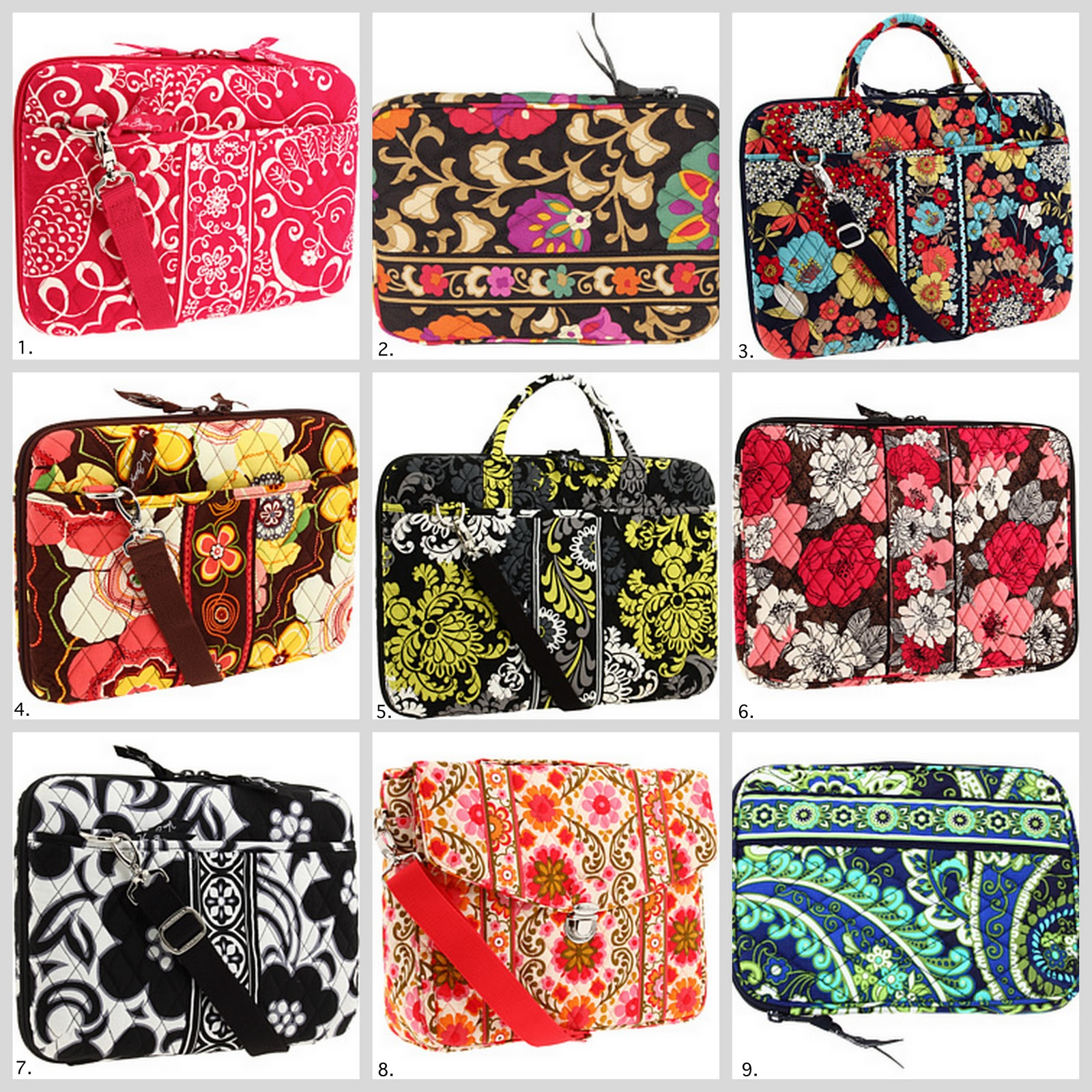 Prettily Patterned On The Outside With A Padded Interior Lining And Safety Straps Vera Bradley Laptop Bags Are Designed To Protect Your Favourite Gadget
