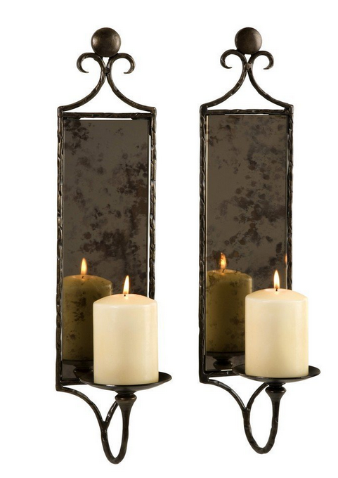 Best Hammered Mirror Wall Sconce Set of