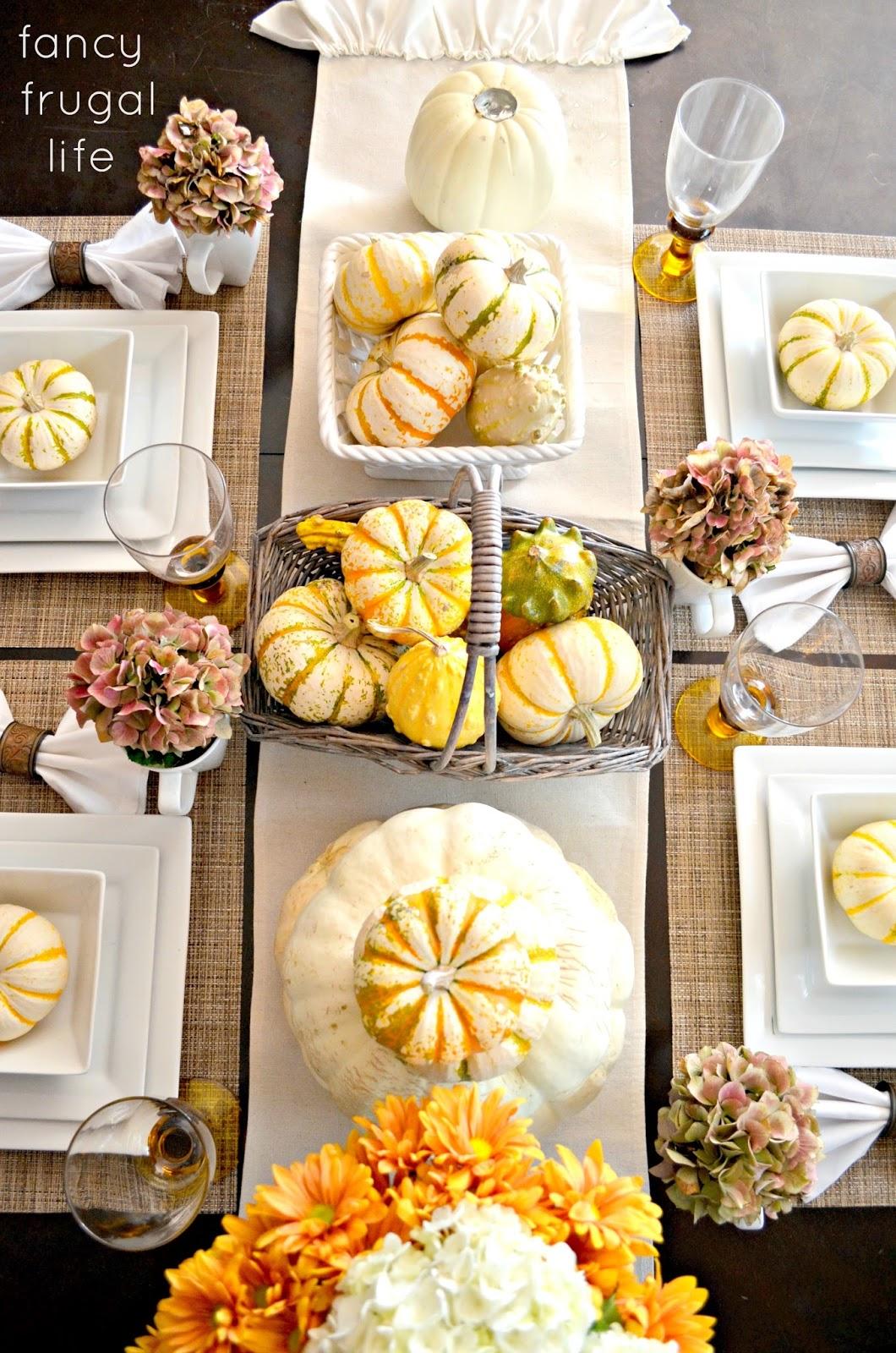 Fancy Frugal Fall Table