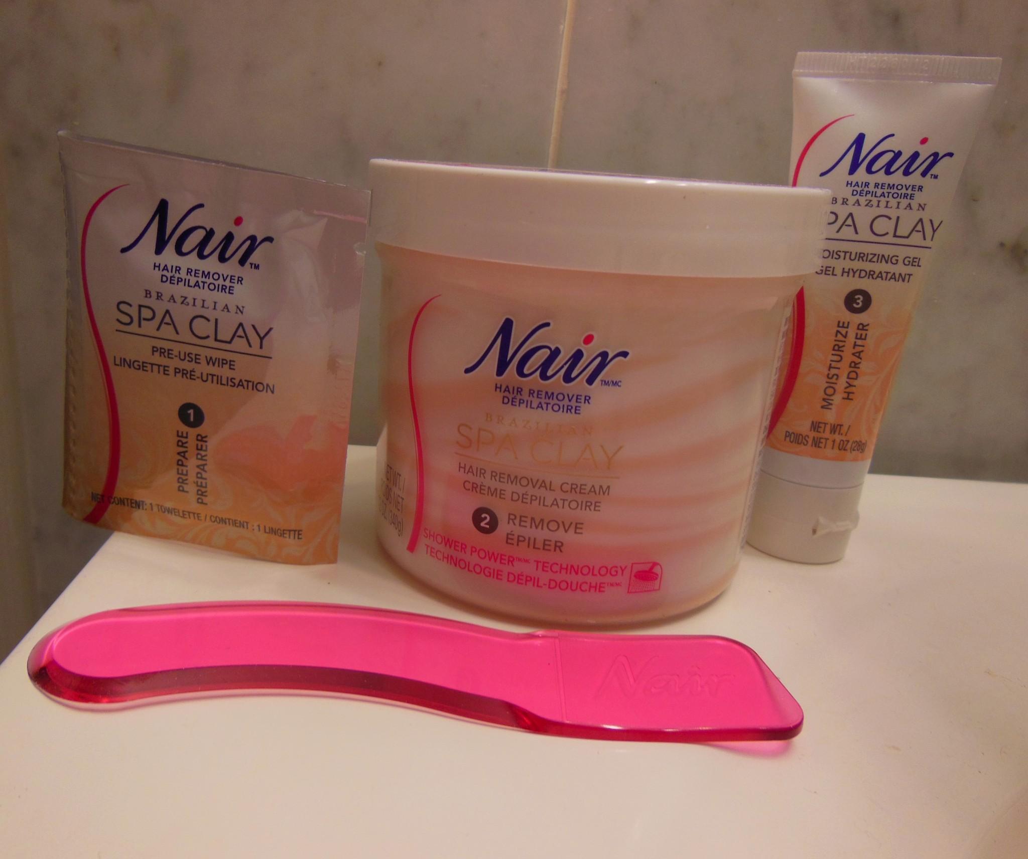 Bikini hair product removal