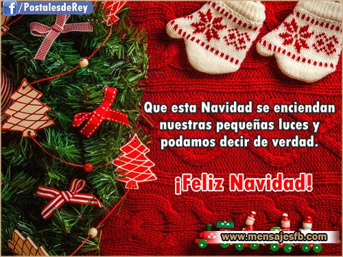 Frases navide as para dedicar mensajes para amor - Postales navidenas bonitas ...