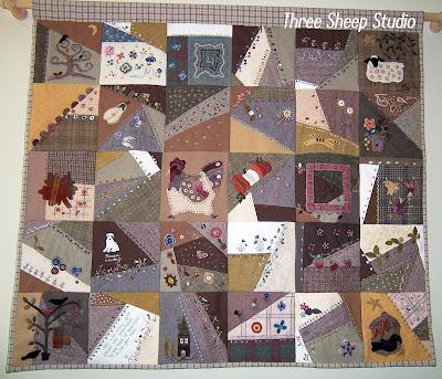 Embellished Wool Crazy Quilt