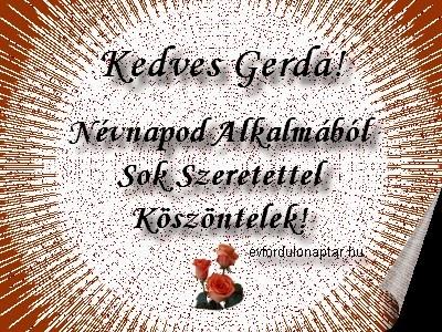 Január 30, Gerda névnap