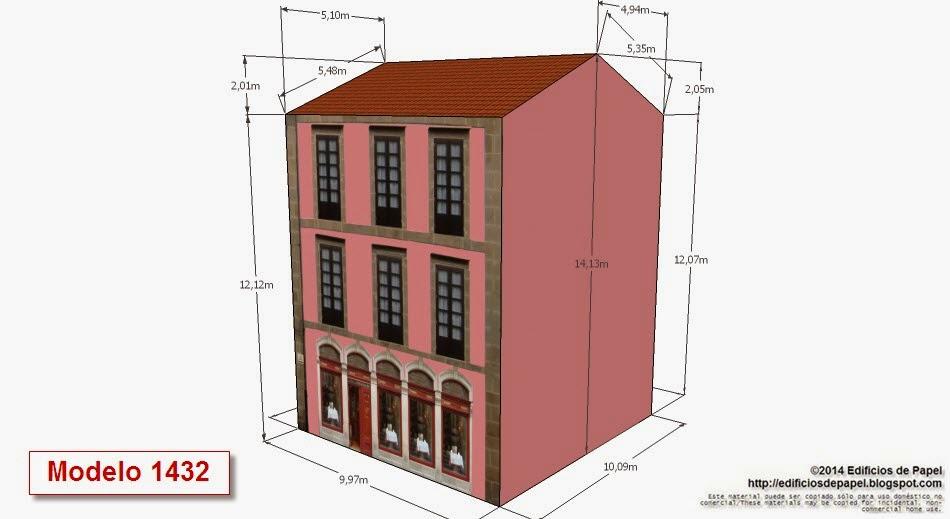 2014 Edificios de Papel - Modelo 1432 - Edificio con Restaurante