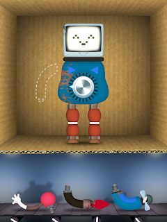 Toca Robot Lab iPhone / iPad App, Robot Construction