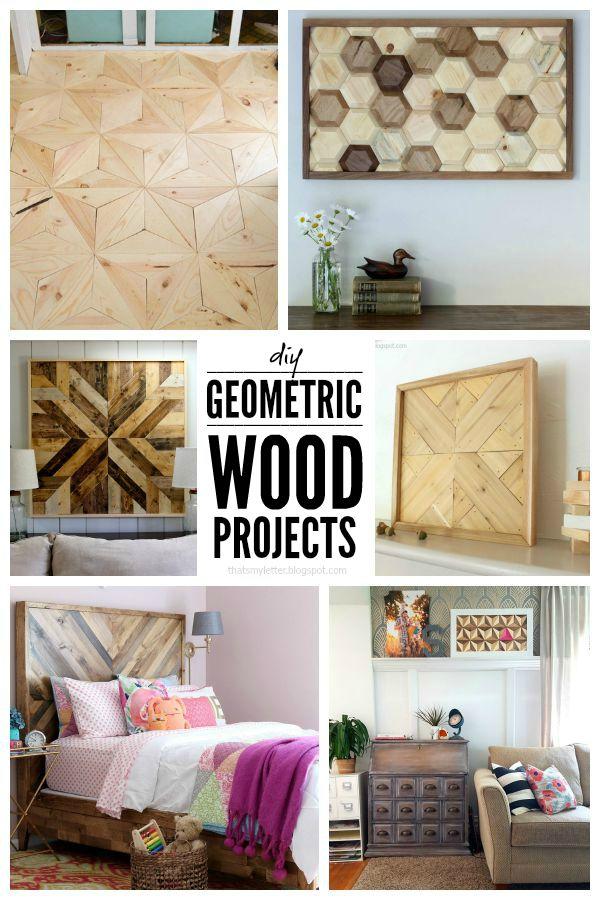 6 DIY geomteric wood project tutorials