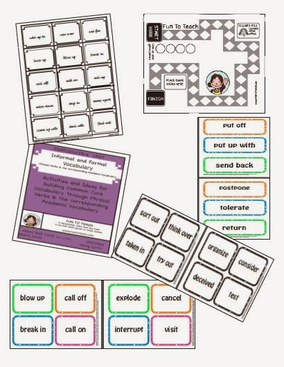 http://www.teacherspayteachers.com/Product/Informal-Formal-Vocabulary-Phrasal-Verbs-Academic-Vocabulary-1005308