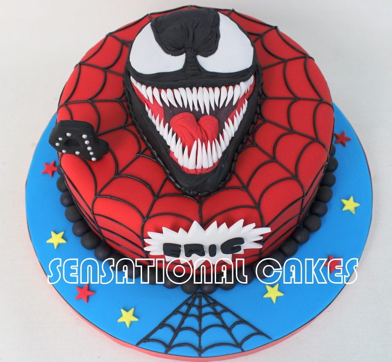 Spiderman Cake For Th Birthday