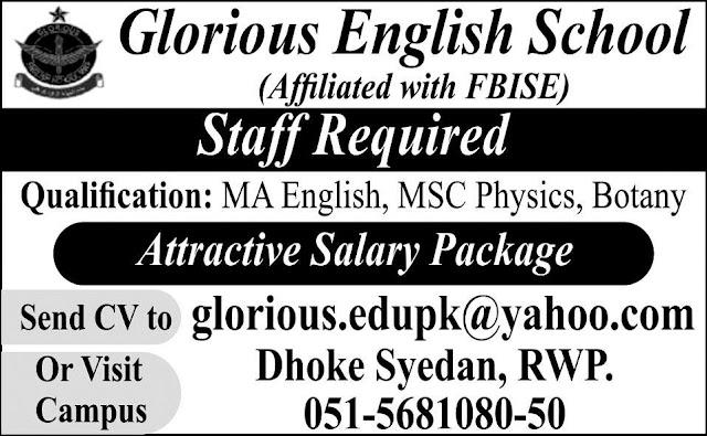 Teacher-jobs-required-in-glorious-english-school-rawalpindi