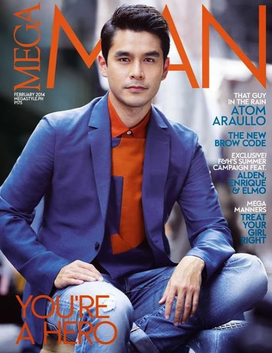 Atom Araullo Dashing on Mega Man February 2014 Cover