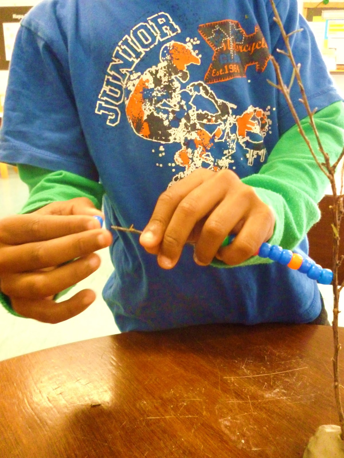 This Captured The Interest Of Other Children And Taika Kindly Shared His Beads So They Could Make Their Own Beading Trees