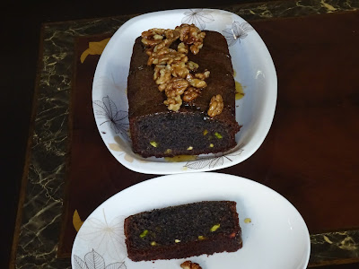Black rice loaf cake