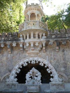 Fountain in the gardens of Quinta da Regaleira, Sintra Portugal