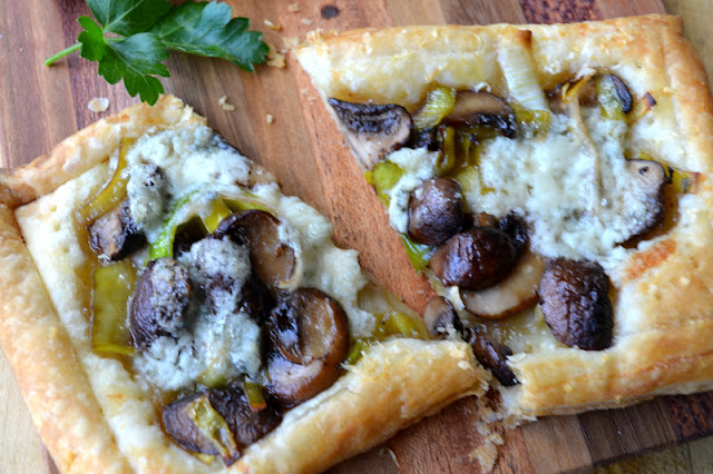 ... leeks, mushrooms and Gorgonzola cheese into mouthwatering tarts