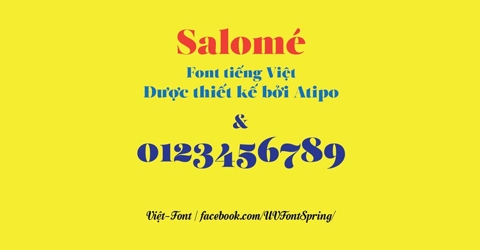[Serif] UVF Salome Regular Việt hóa