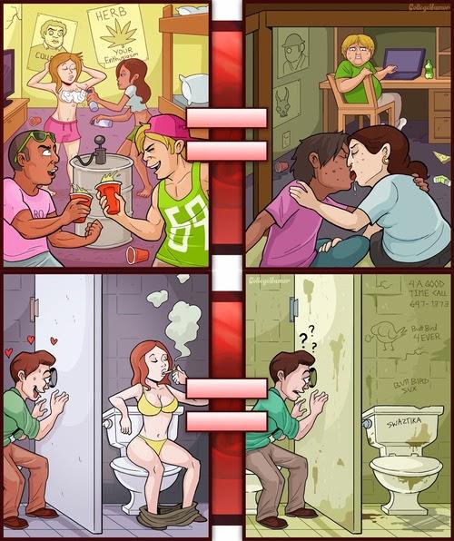 imagenes graciosas - porno vs realidad