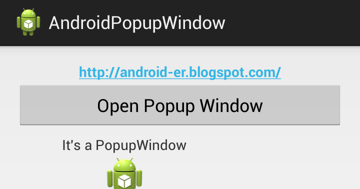 how to make popupwindow dismiss when background is clicked android