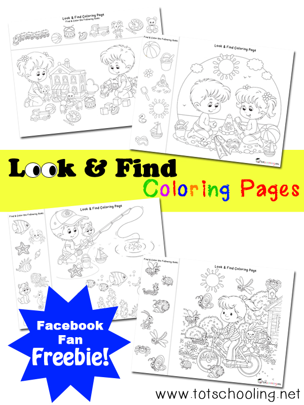 Look & Find Coloring Pages