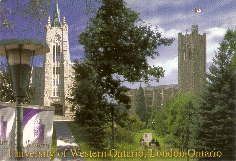 Carte Canada Uni.Postcard A La Carte Canada University Of Western Ontario