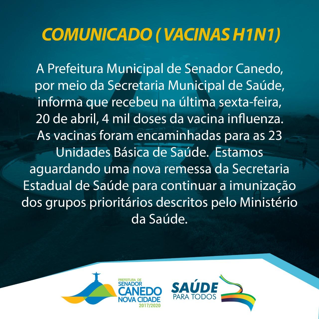 IMPORTANTE: VACINAS H1N1