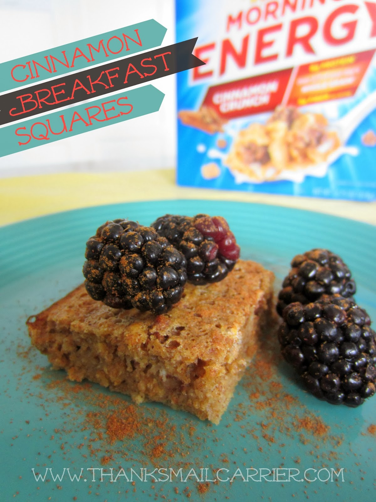 Cinnamon breakfast bars recipe