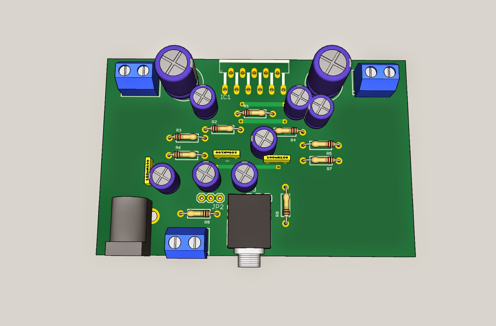 Tda2005 Power Amplifier Circuit Electronic Kit T Circuits Tda2009 2x10w Stereo Mini And Explanation Here Is The Pcb Etched Drilled Ready For Component Population