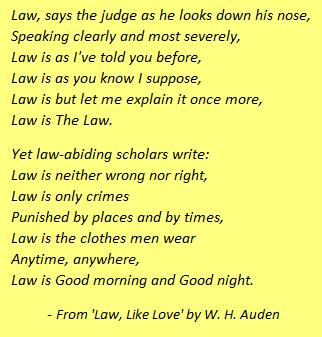 law like love essay