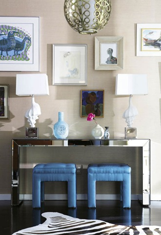 Mirrored Console Table For Living Room