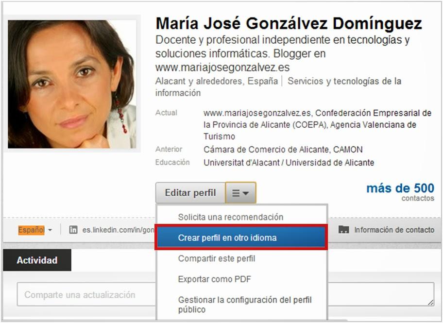 cómo crear un perfil linkedin en otro idioma
