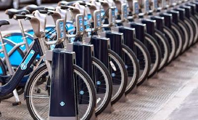 Bicicletas de alquiler en la ciudad