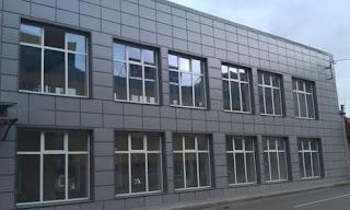 Вентилируемый фасад из композита без зазора
