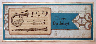 Happy Birthday Musical Card, layout inspired by Waltzingmouse and stamps by TPC Studio