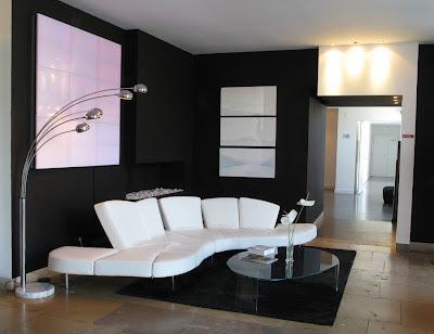 Dise o de salas minimalistas en blanco y negro ideas for Casa minimalista interior blanco