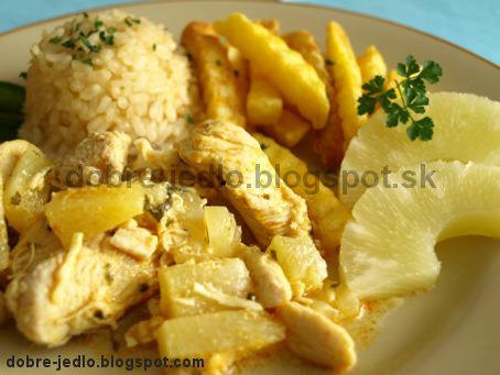 Kari kura s ananásom - recepty