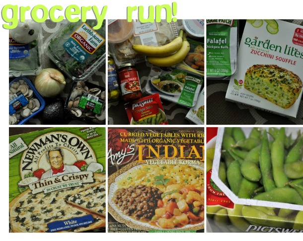 vegetarian grocery shopping haul photos