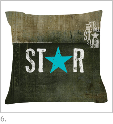 Distressed Star Cushion