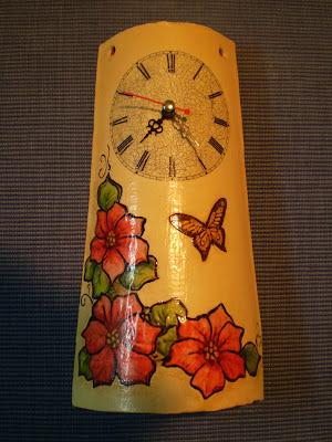 El refugio de lirtea teja reloj Pintar tejas de barro