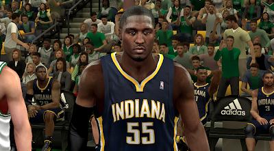 NBA 2K14 Roy Hibbert Face Mod