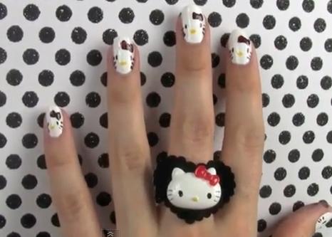 cute kitty nails
