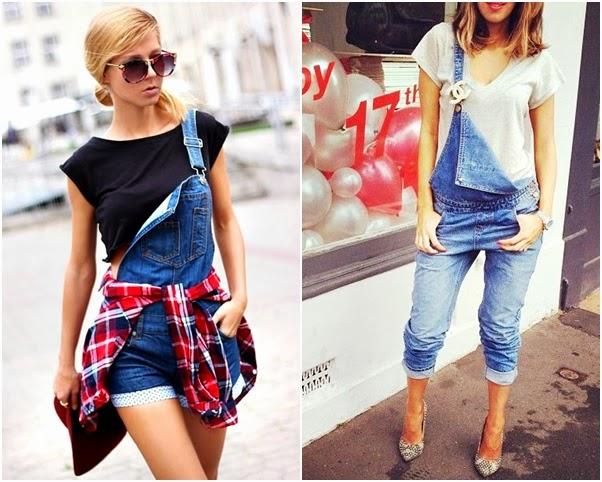 Jardineira Linda Looks Como Usar Jeans Curta Short Comprida Calça Alça Solta